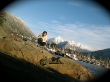 Mary poses in beautiful Sitka
