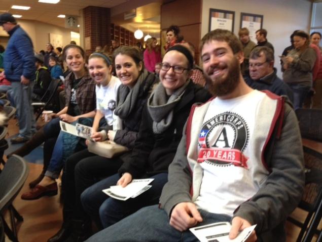 JV AmeriCorps members attending the MLK Day Celebration in Billings, MT.