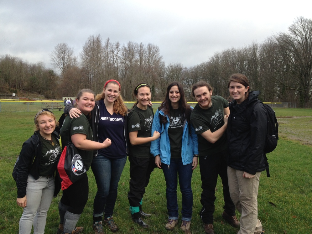 Seattle JV AmeriCorps members join the Nature Consortium MLK Day project.