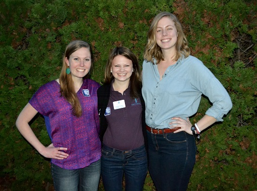 Lauren (middle) and her community mates attend a screening of the Hunting Ground