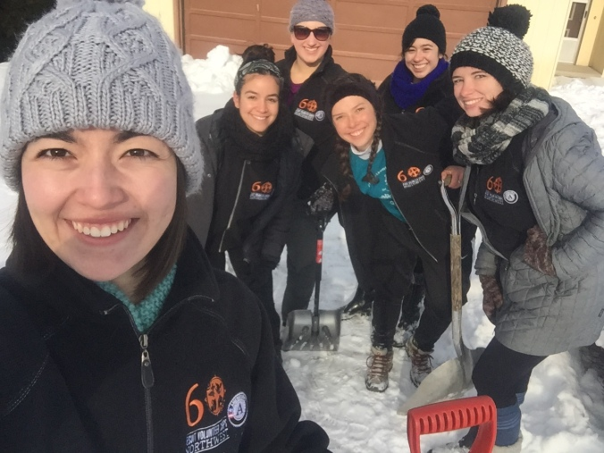 In Hood River, residents were blasted with snowy winter weather! Our JV AmeriCorps members located in Hood River teamed up with Providence Hospital's Volunteers in Action to shovel care receivers driveways!