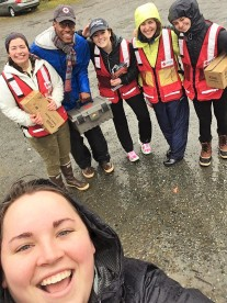 JV AmeriCorps members located in Juneau walked from house to house installing smoke detectors and educating residents about house fires with the American Red Cross.